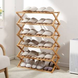 Foldable shoe rack household multi-layer economical simple doorway installation-free dormitory shoe cabinet storage rack-0103