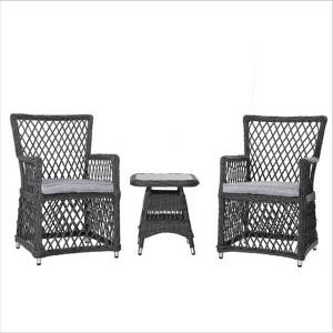 Garden balcony furniture leisure table and chair rattan chair three-piece suit
