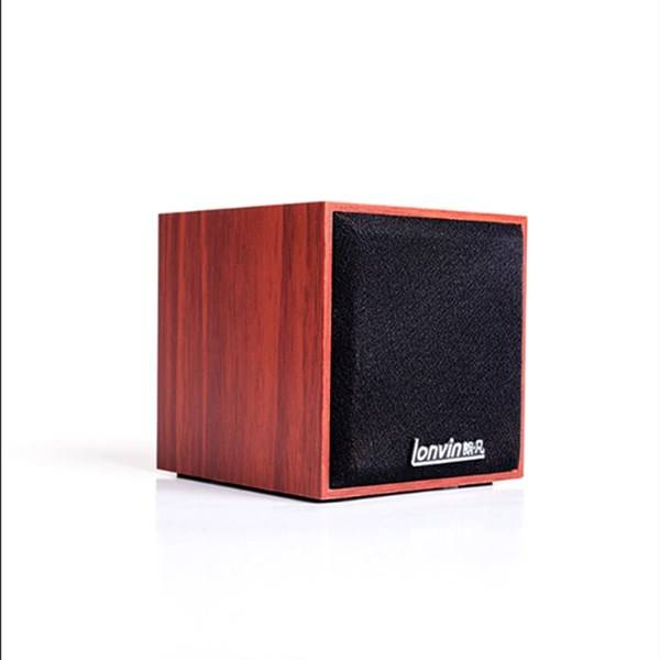 Notebook desktop computer single cabinet integrated wooden subwoofer USB small speaker mobile phone mini speaker Featured Image