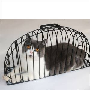 Hair and bath cat anti-scratch cage go out for injections cat cage anti-scratch paw wash cat cage