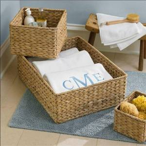 Banana leaf rattan storage basket rectangular banana leaf towel basket grass and rattan storage basket hotel towel basket