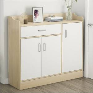 Shoe rack household entrance large capacity and space saving simple storage cabinet simple and economical multi-layer dustproof household shoe cabinet
