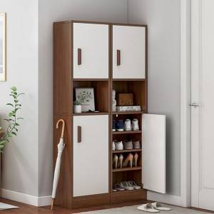 Shoe cabinet household entrance entrance hallway cabinet narrow high vertical storage large capacity simple multi-function storage narrow shoe rack