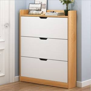 Nordic Shoe Cabinet, Home Interior, Good-Looking, Simple Entrance Porch Cabinet Storage Space-Saving, Narrow Bucket Shoe Shelf