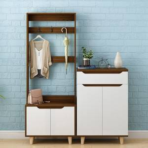 Shoe Cabinet with Hanger Integrated Combination Northern European Clotheshelf Floor Style Bedroom Door Storage Cabinet Household Door Cabinet