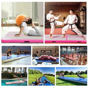 Wholesale DWF inflatable yoga mat custom sport air track Gymnastics Tumbling Mat Air Floor  0393