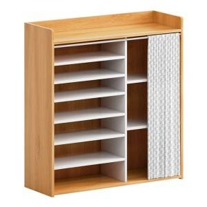 Good-looking home interior, simple doorway, economical multi-layer dustproof rack, large capacity doorless shoe cabinet