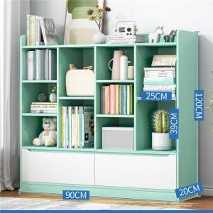Simple bookshelf floor simple modern home multi-function living room multi-layer shelf bedroom student storage bookcase-0117
