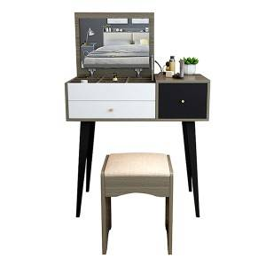Nordic Dressing Table Small Apartment Mini Dressing Table Bedroom Board Dressing Table 0001