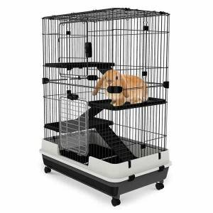 Cadiz 4-Level Indoor Small Animal Cage with Wheels 0224