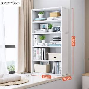 Bookshelf Simple Floor-to-Ceiling Bay Window Small Bookcase Storage Locker Combination Balcony Simple Household Multi-Layer Shelf