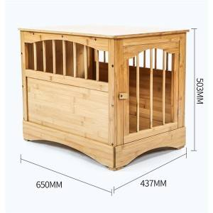 Fann Brown Wood and Bamboo Dog House