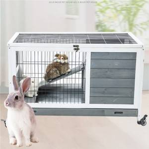 Multifunctional Poultry Breeding House Simple Solid Wood Rabbit Cage