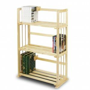 A simple solid pine bookcase commodity shelf 0220