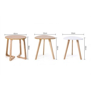 Solid wood coffee table simple and stylish small table 0411