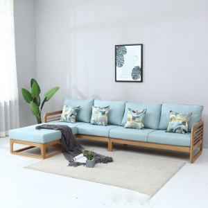China OEM Fold Up Sofa Bed - Modern Simple Solid Wood Custom Sofa Set#0028 – Amazons Furniture