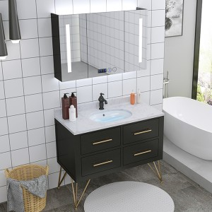 OEM/ODM Supplier Foldable Study Table - Smart Solid Wood Bathroom Cabinet Nordic Sink Cabinet Floor-to-Ceiling Bathroom Vanity#0130 – Amazons Furniture