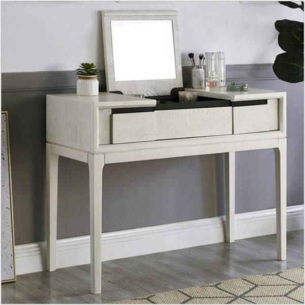 Flip-style Desk and Dresser Integrated Dresser White Distressed
