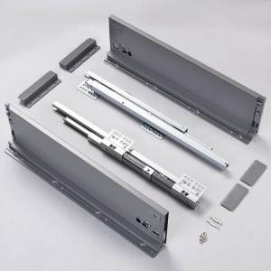 Chinese wholesale Drawer Telescopic Channels - 150mm height drawer slide slim sliding kitchen drawers – Yangli