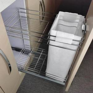 406 Series cloth bag pull out kitchen wire basket drawer system