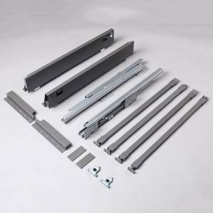 2020 Latest Design Telescope Drawer Slide - Silent soft close movement system for double wall drawer slide – Yangli