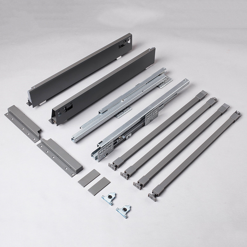China OEM Telescopic Slide Drawer - Silent soft close movement system for double wall drawer slide – Yangli