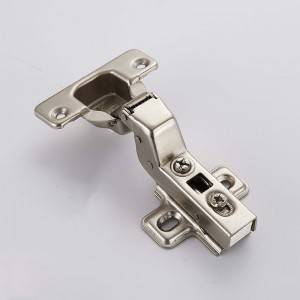 Bottom price Inset Cabinet Hinges - Clip-on soft closing furniture cabinet hinge with two holes plate – Yangli