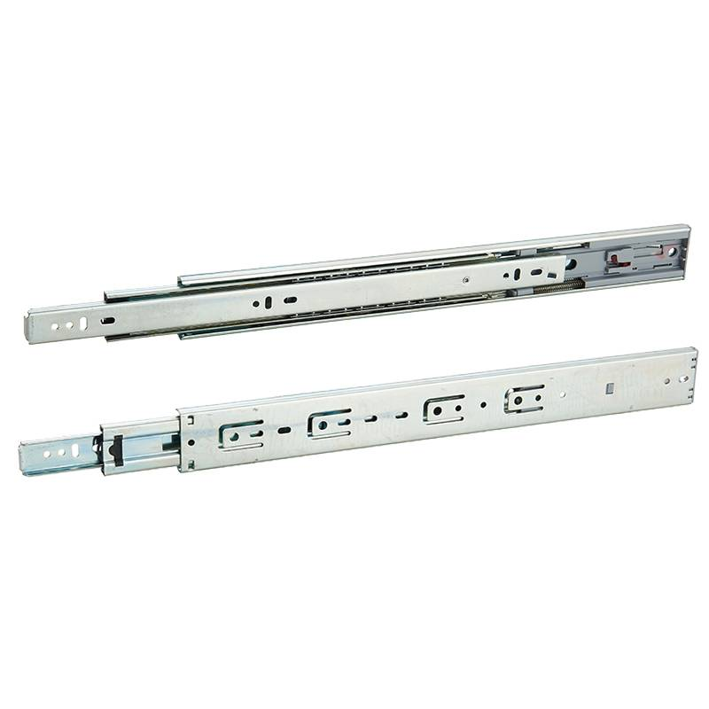 45mm full extension telescopic channels hydraulic ball bearing drawer slide Featured Image
