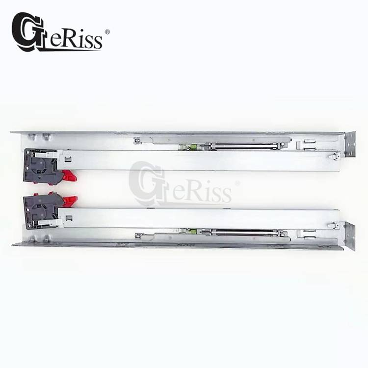 China Chinese Wholesale Kitchen Cabinet Undermount Drawer Slides American Style Full Extension Soft Closing Undermount Drawer Slide With Front Connectors And Back Connectors Yangli Manufacture And Factory Yangli