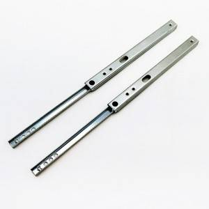 17mm Single extension side mount telescopic drawer slide channel