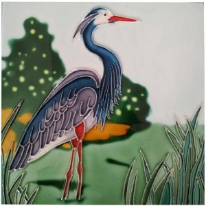 Good Quality Ceramic Plate - Handpainted Ceramic Decorative Art Tile – Yanjin