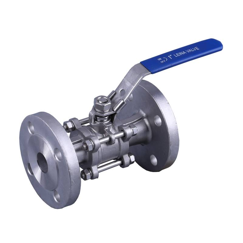 3PC flange ball valve 300LBS