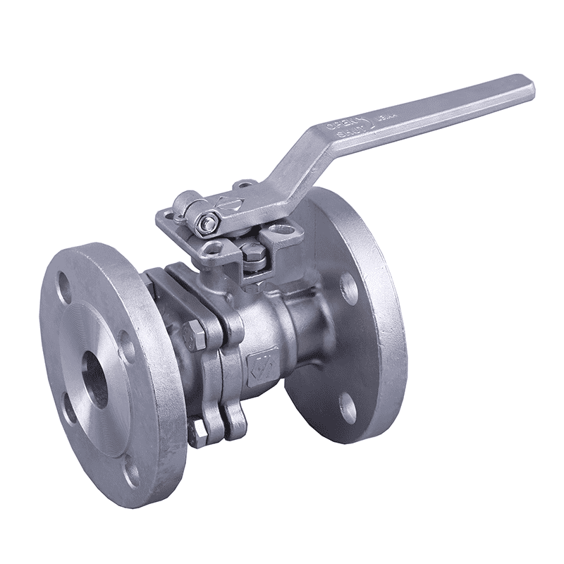 2PC flange ball valve with direct mounting pad 10K