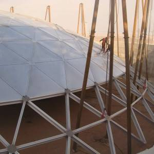 Aluminum Geodesic Dome Roof