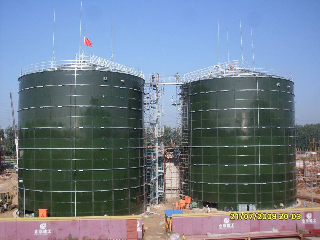 Enamel Coating Steel Biogas Storage Tank Around 6.0 Mohs Hardness