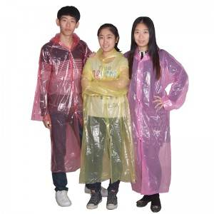 China New Product Kids All In One Raincoat - Disposable PE raincoat – Winhandsome