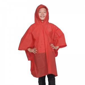 China OEM Waterproof Raincoat with Hood - Reusable PVC poncho (children) – Winhandsome