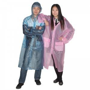 Reusable PVC raincoat