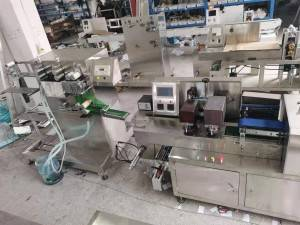 Automatic wet wipes making machine production line for 1 pieces packing
