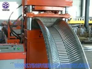 Nut and bolt large span roll forming machine with bending machine