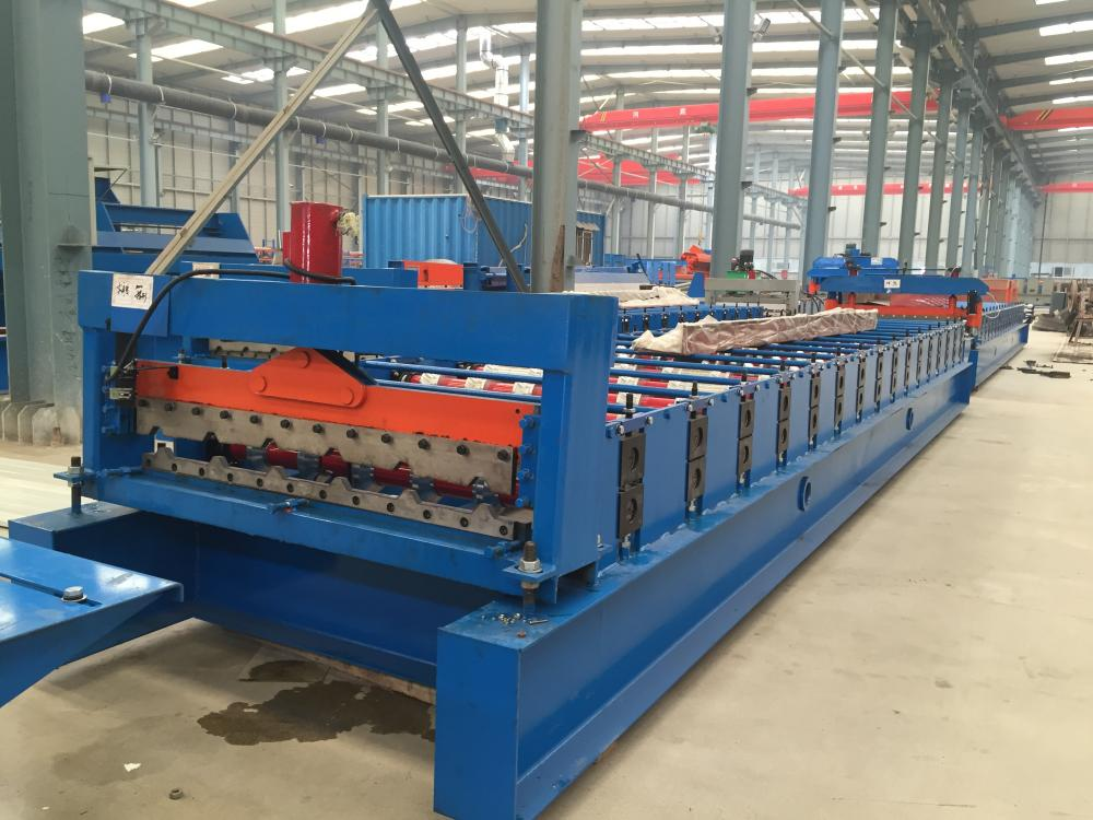 automatic double layer roof sheet forming machine