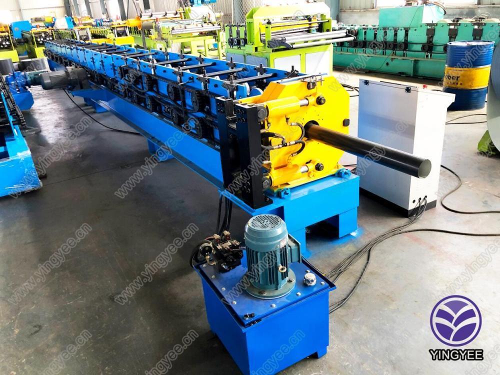 Manufacturer for Rack Upright Roll Forming Machine - square round downpipe roll forming making machine – Yingyee