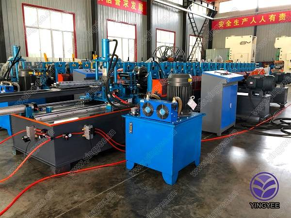 Metal storage rack /upright pillar roll forming machine Featured Image