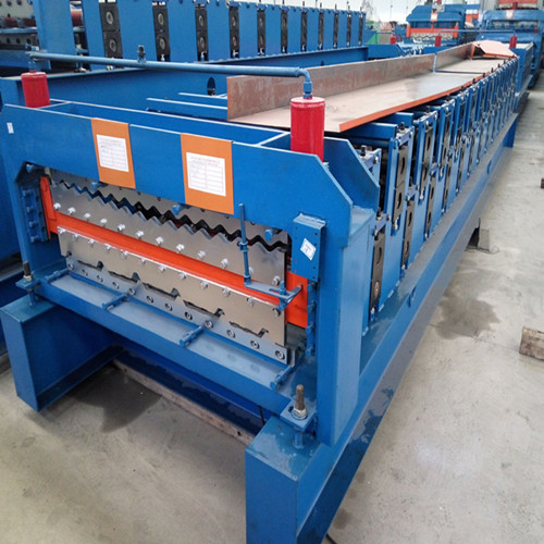 Corrugated sheet metal roof sheet roll forming machine