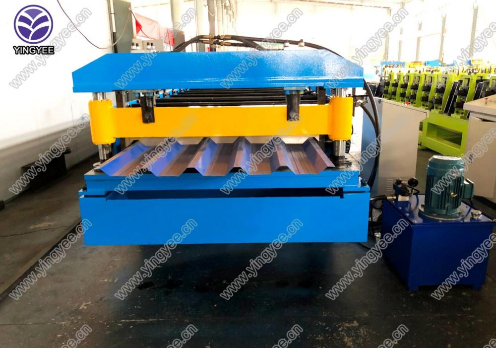 Hot New Products Russia Sandwich Panel Production Line - Metal galvanized IBR trapezoid roll forming machine – Yingyee