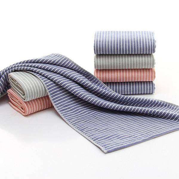 100% Cotton Towel Striped Soft