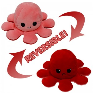 Plush Toy Revise Octopus Two-sided Flip Doll Different Colors New Creative