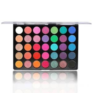 35 Colors Eyeshadow Palette Matte And Glitter Waterproof Multiple Styles Private Label