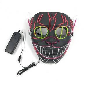LED Full Face Mask Halloween Costume Cosplay Festival Party Christmas Toys