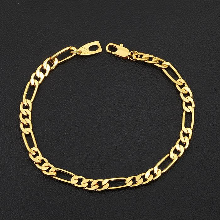 Watch Agent In Yiwu - 18K Gold Charm Bracelet for Men Women High Quality 5mm – YINO detail pictures